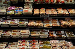 Grocery store meat selection