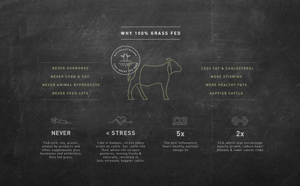 What is in grass fed beef
